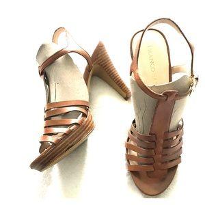 Franco Sarto Cognac high heels